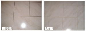 grey tile cleaning